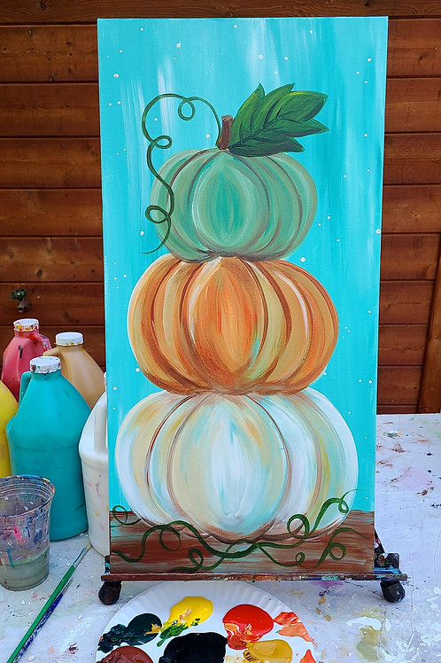 Stacked Pumpkin Painting