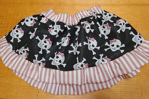 Upcycle Cutie Skull Skirt