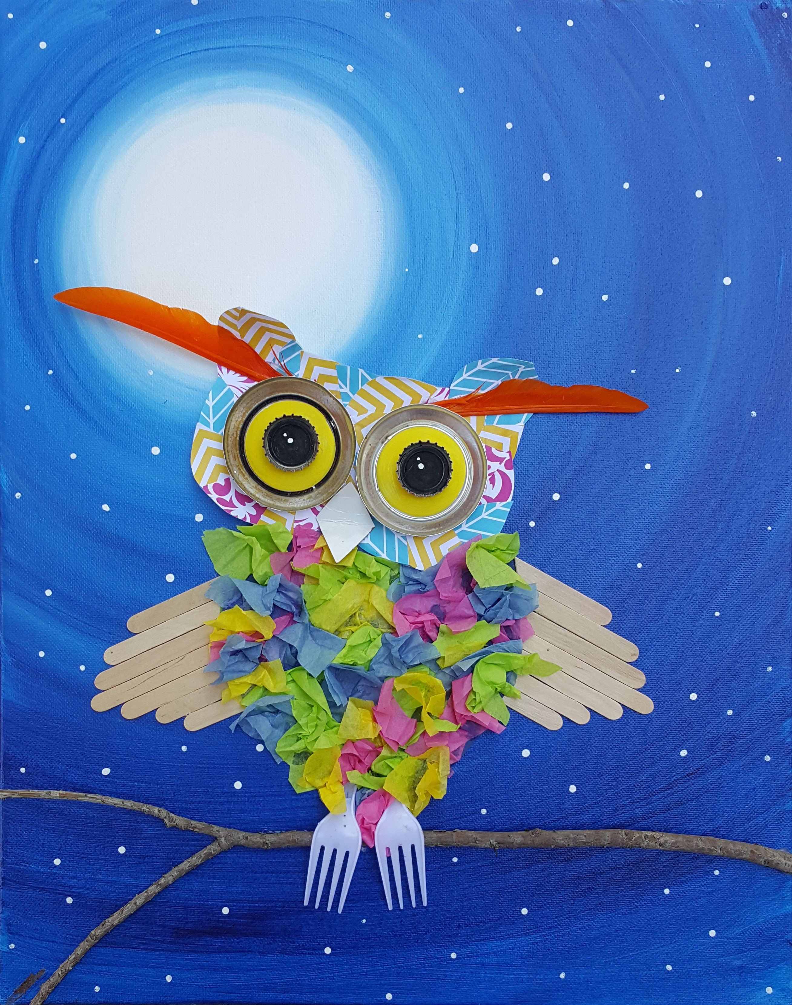Upcycle Owl
