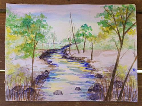 River Watercolor