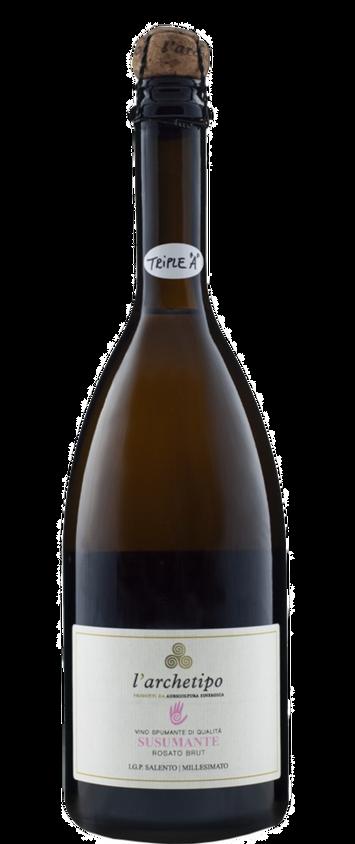 """L'ARCHETIPO (PUGLIA) - Spumante Rosato Brut """"Susumante"""" - 100% Susumaniello"""