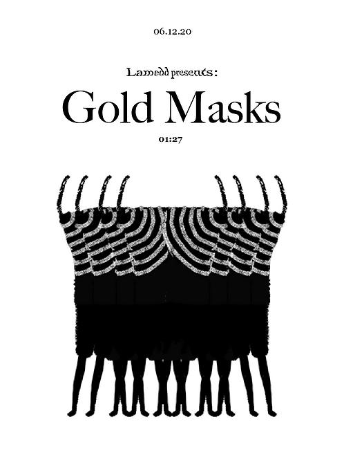 Gold Masks A4 Poster