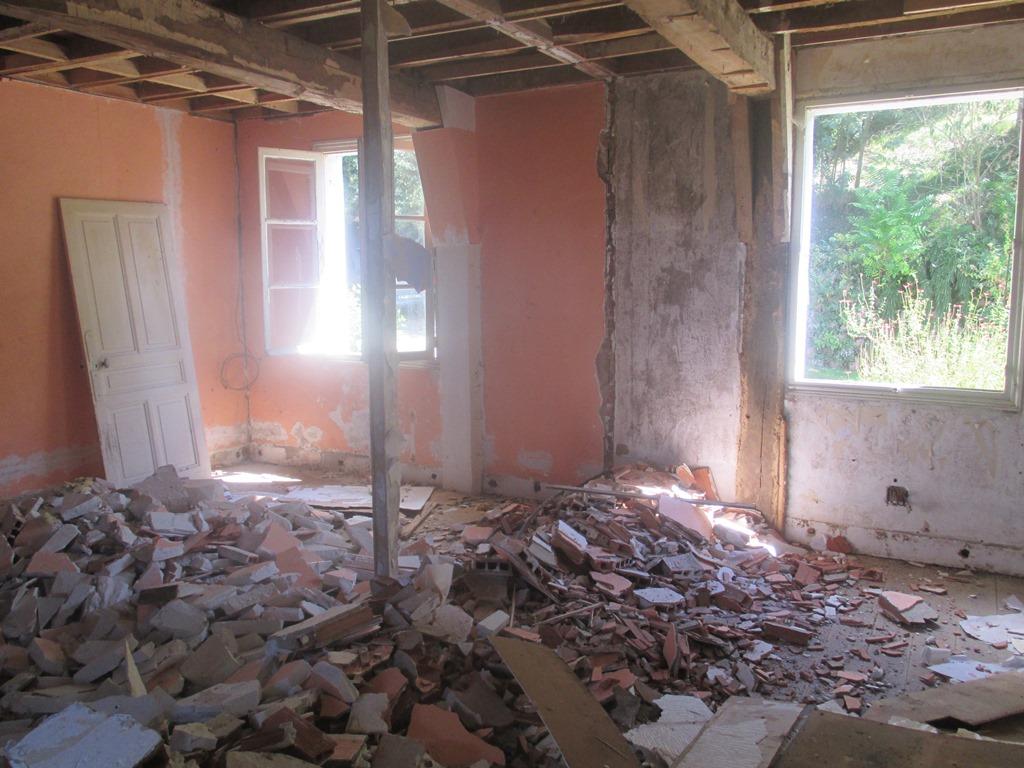 démolition des ancien cloisons