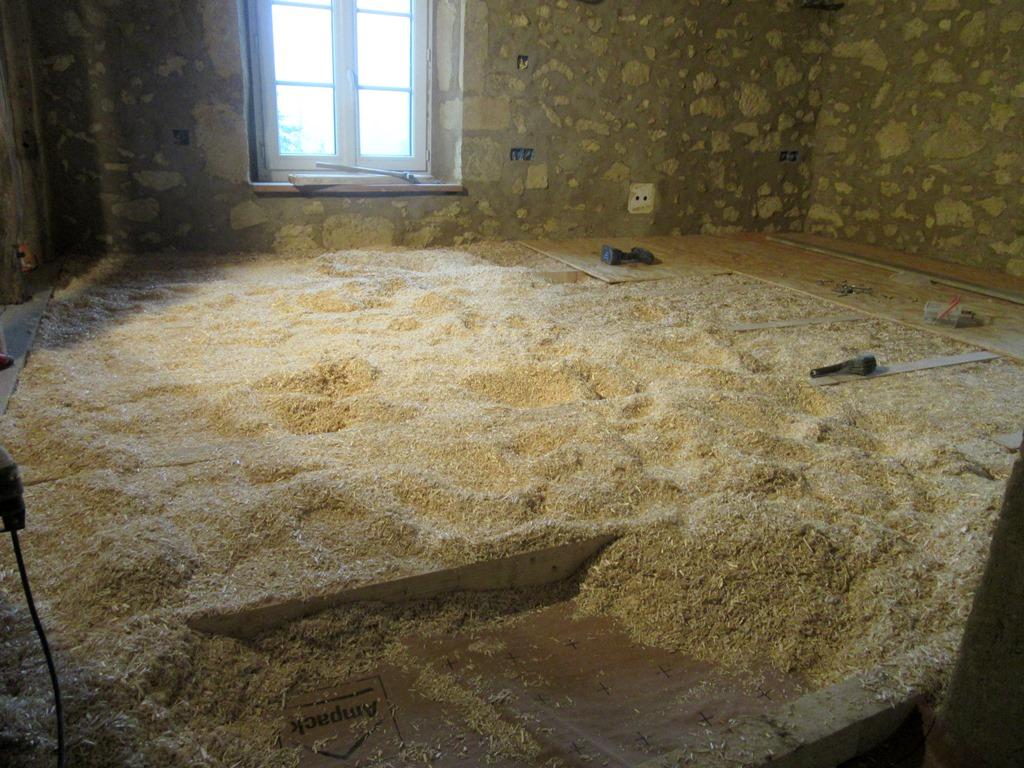 chambre avec isolatio du sol