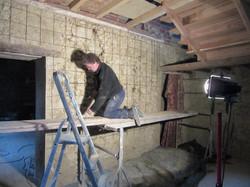préparation mur pour cage d'éscalier