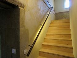 escalier avec illumination des marches