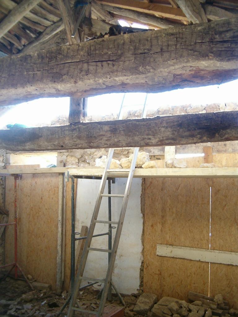 passages cuisine et platfond enlevé