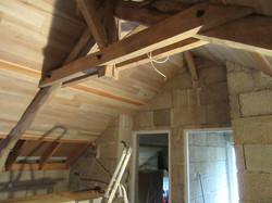 isolation et volige au toit terminés