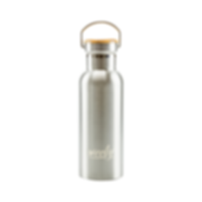 Weety stainless steel and bamboo bottle.