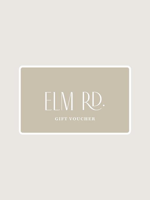 Elm Rd. Gift Voucher from