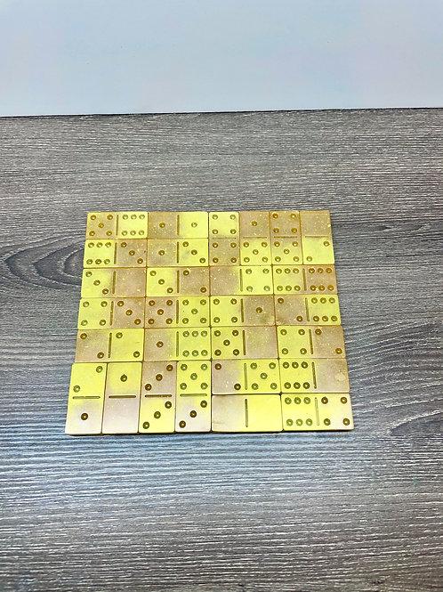 Halographic Tangerine Domino Set