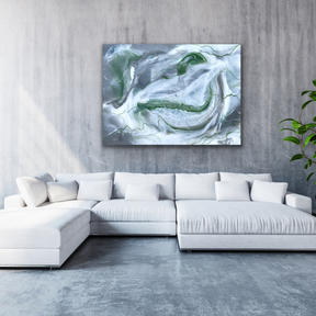 """Marbled & Mossy- 30"""" X 40"""""""