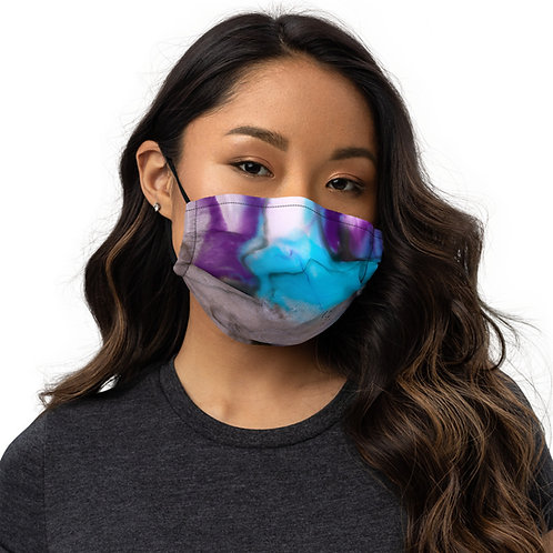 Aquatic Plum face mask