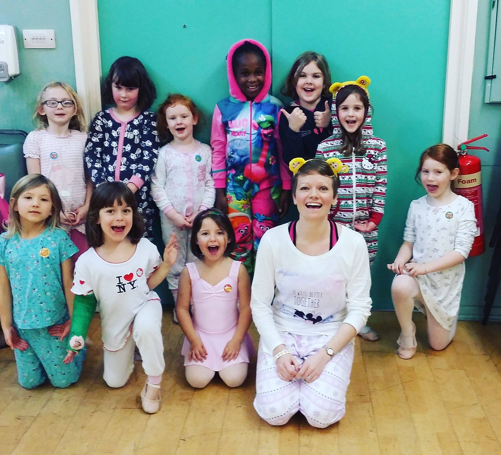 Prancing in our pyjamas for Pudsey