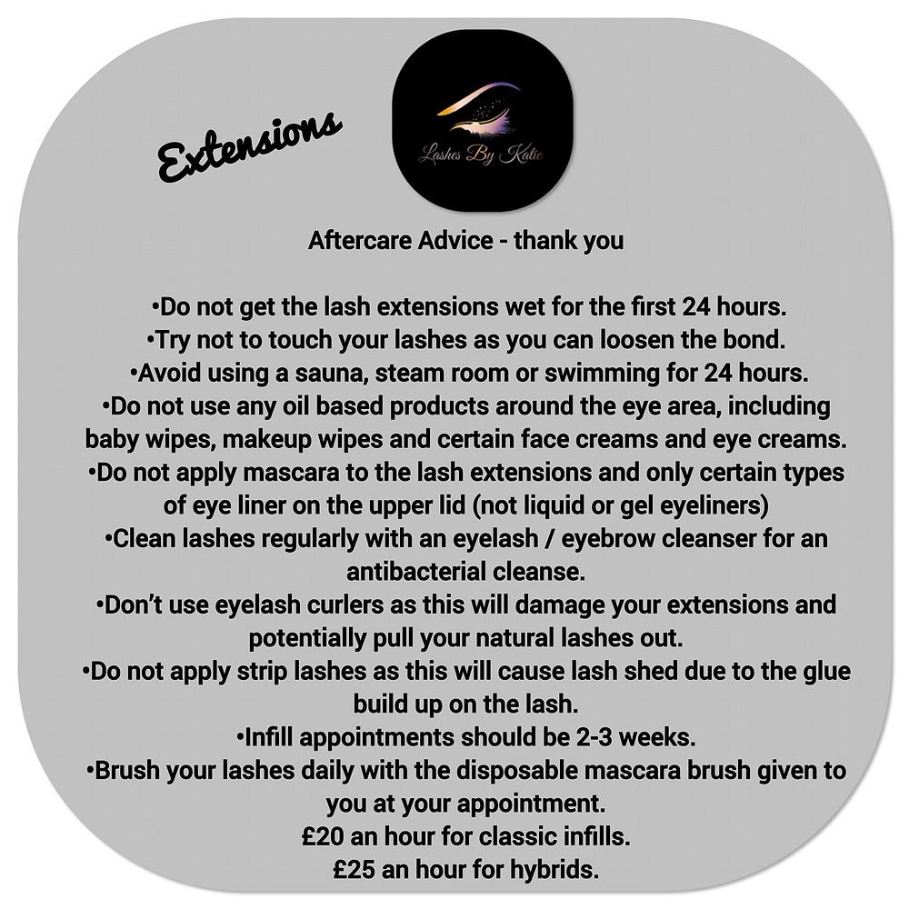 Eyelashes, individual eyelash instructions