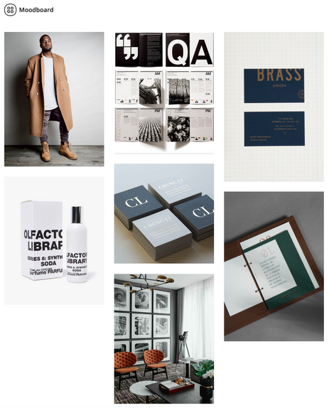 Moodboard for client's personal brand