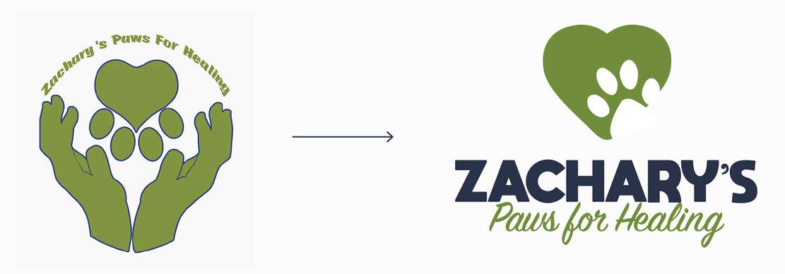 Zachary's Paws for Healing logo redesign