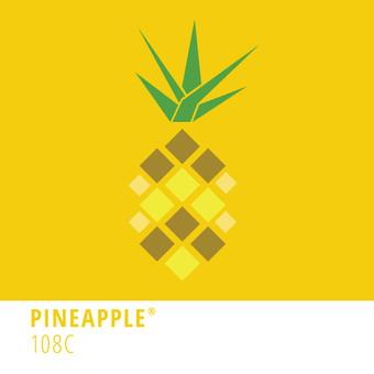 Pineapple Pantone print