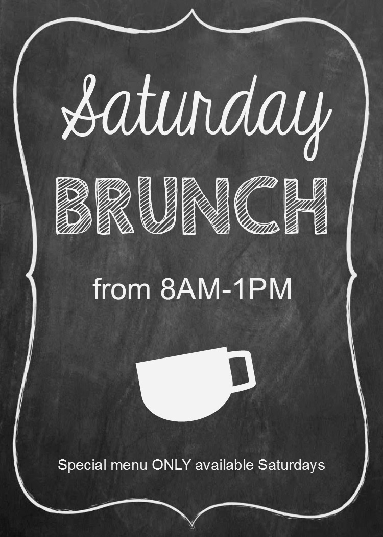 saturday brunch ad