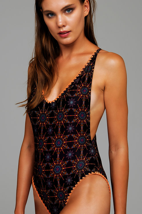 'ASIAN STAR'ONEPIECE SWIMSUIT