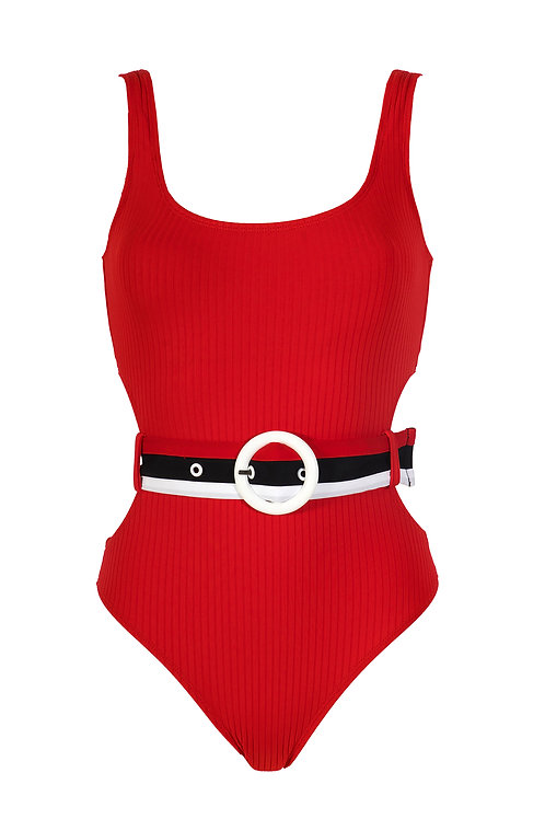 BELTED ONEPIECE SWIMSUIT