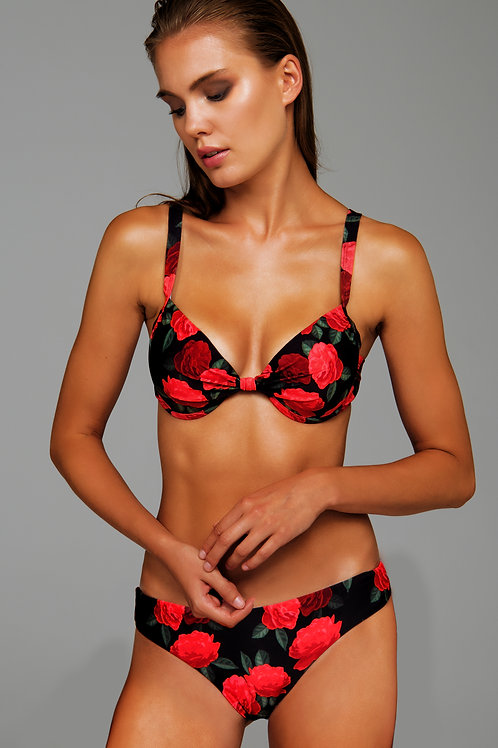 'ROSES ARE RED' PUSH UP BIKINI TOP