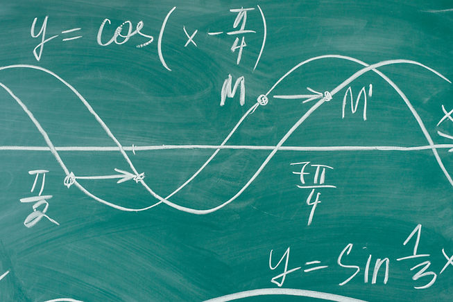 Trigonometry. School Chalkboard Function