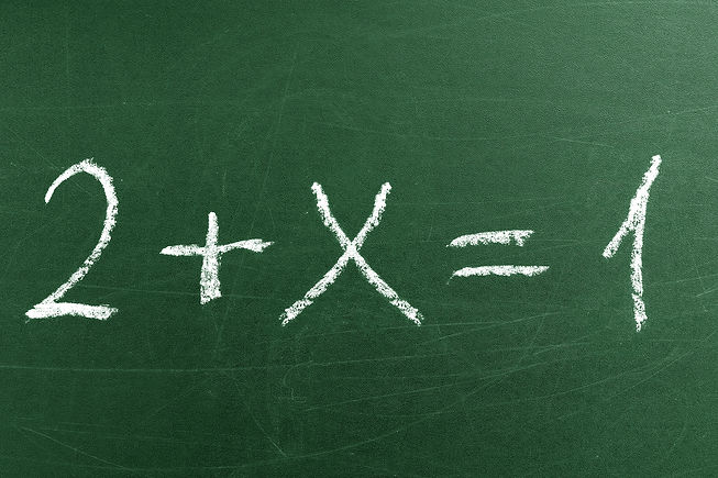 Tricky math equation on the green School