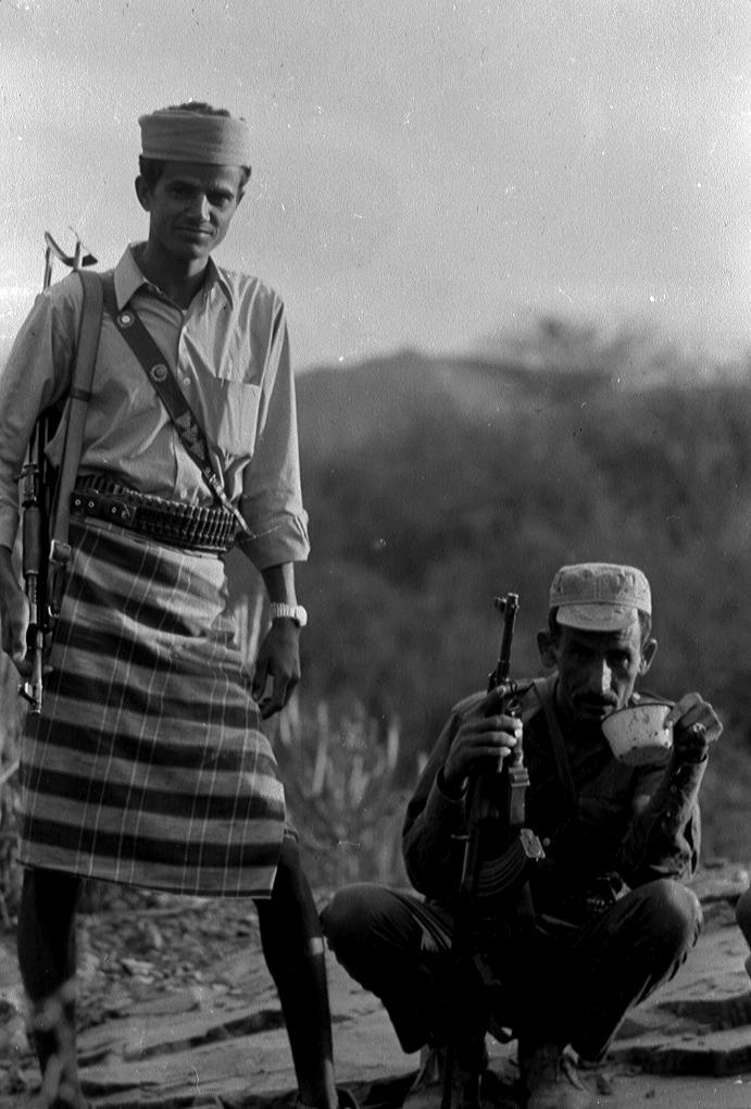 Des combattants yemenites
