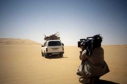Tournage dans le désert Libyen