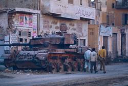 Un char détruit