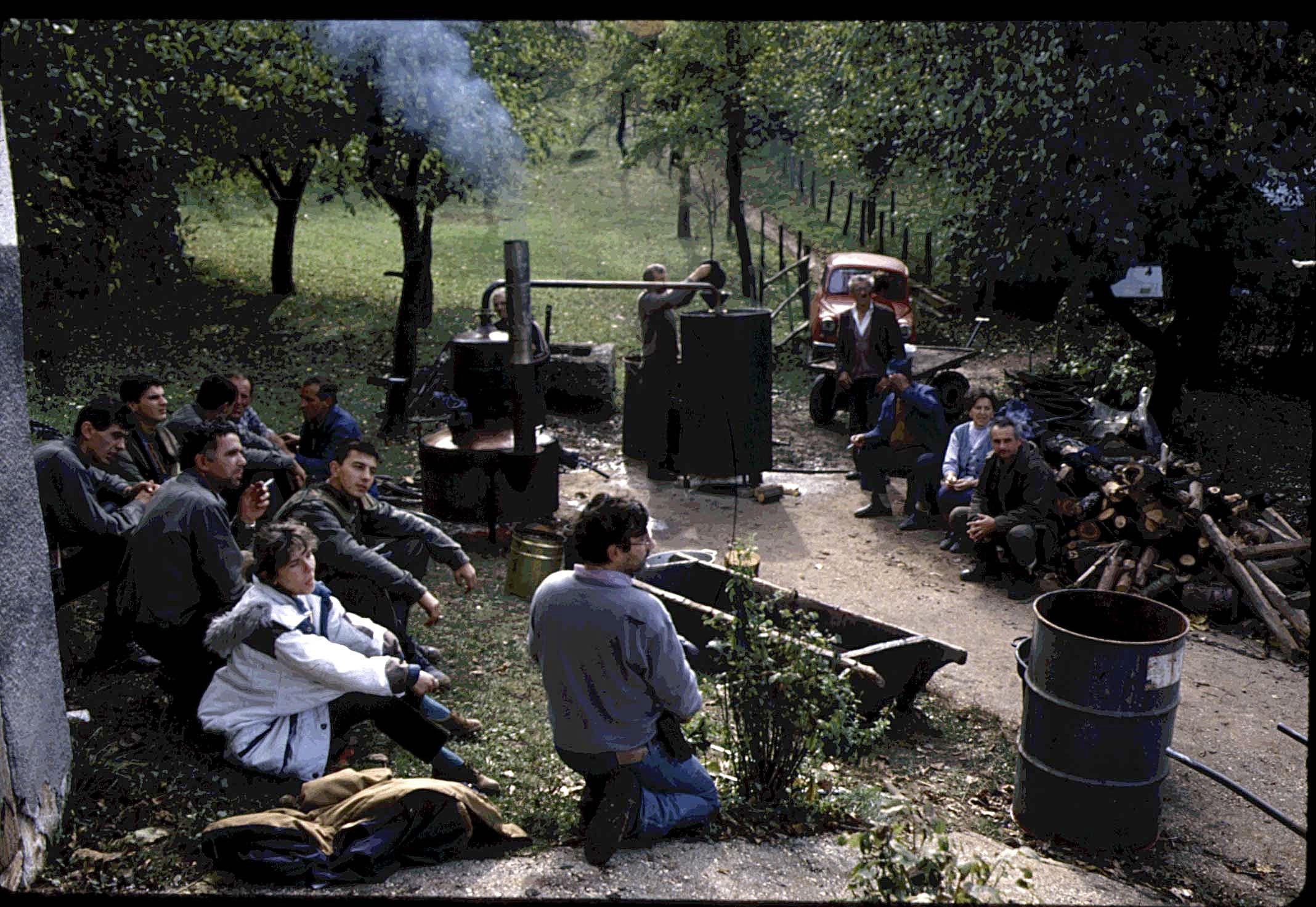 Tournage avec l'armée serbe