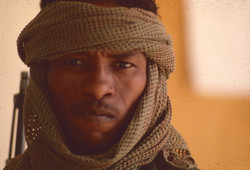 Tchad :Guerrier Toubou