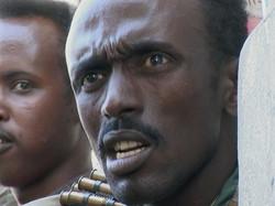 Un milicien somalien
