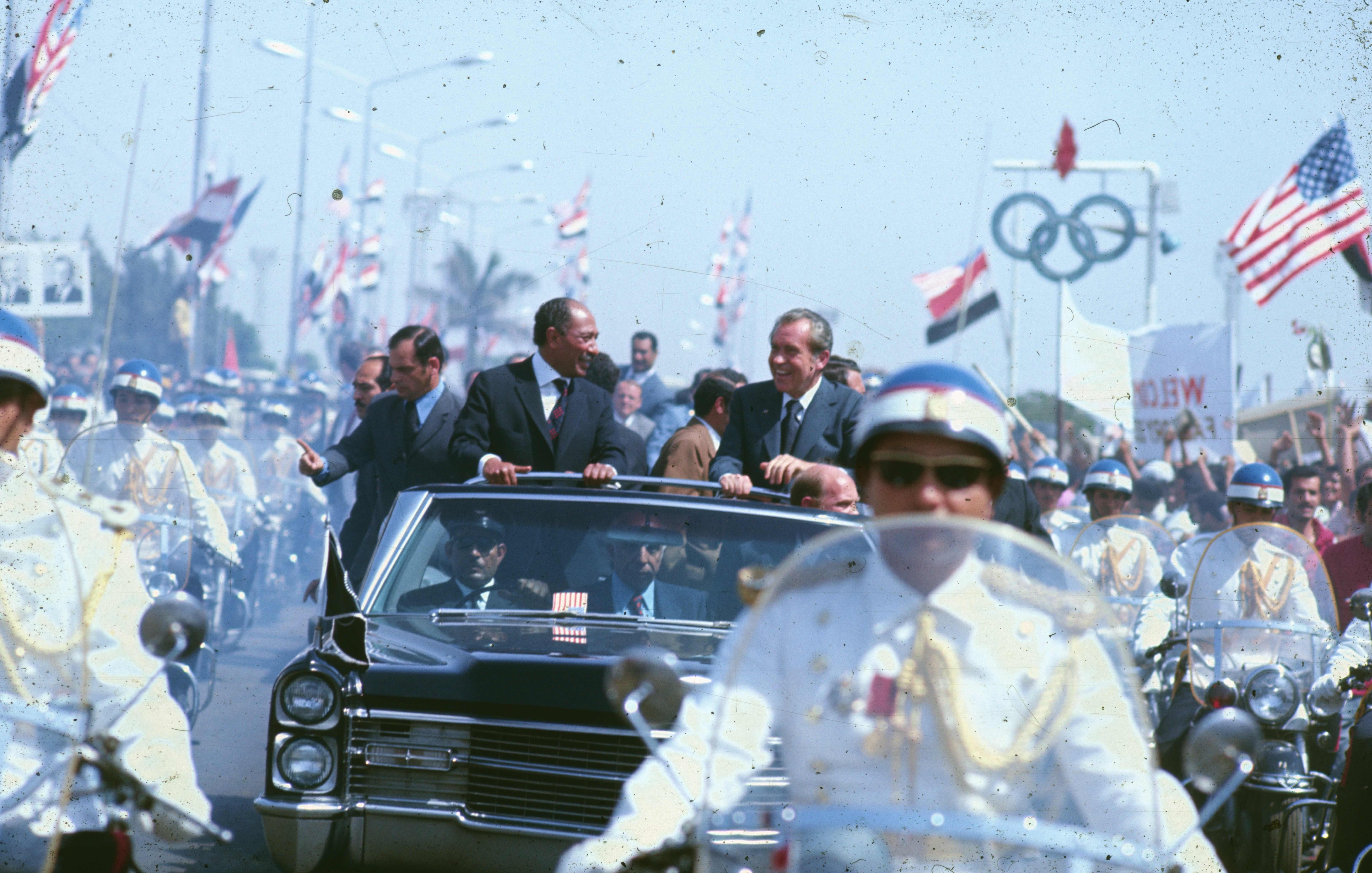 Arrivée du Président Nixon au Caire