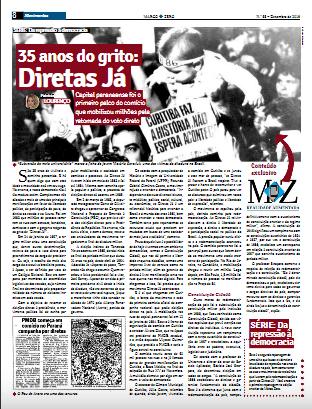 Curitiba foi o berço do movimento pela redemocratização no Brasil