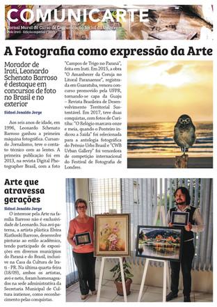 Jornalista Leonardo Schenato Barroso ganha prêmios com fotografias