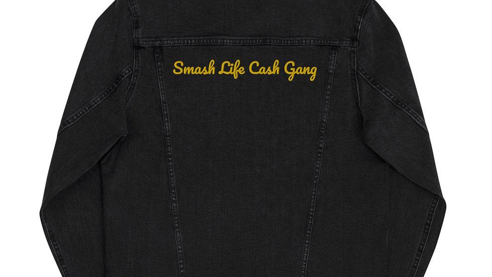 "Smash Life Cash Gang ""SLCG"" Unisex denim jacket"