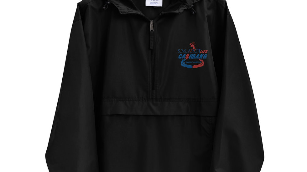 SLCG FAMILY HANDS IN Embroidered Champion Packable Jacket