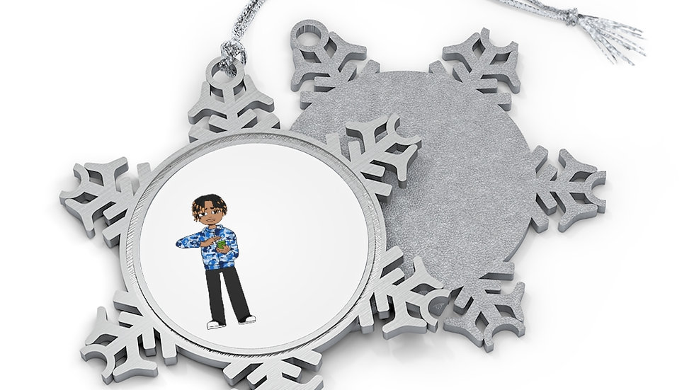 Mr.Nikmoney Pewter Snowflake Ornament