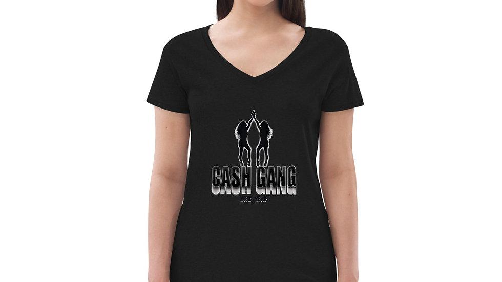 Cash Gang x Faloo Women's recycled v-neck t-shirt