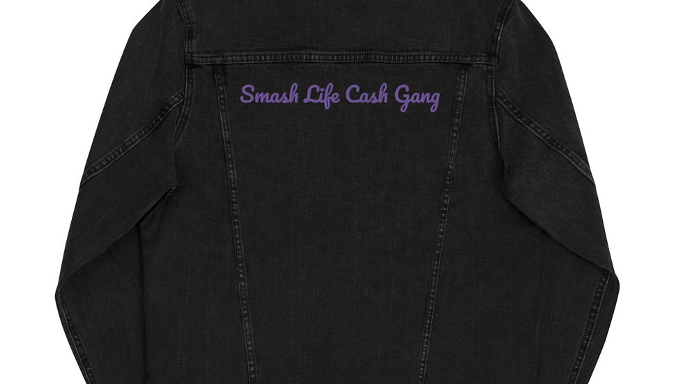 "Smash Life Cash Gang ""SLCG"" Unisex denim jacket"