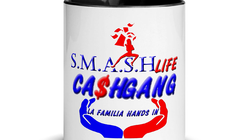 SLCG FAMILY HANDS IN Mug with Color Inside