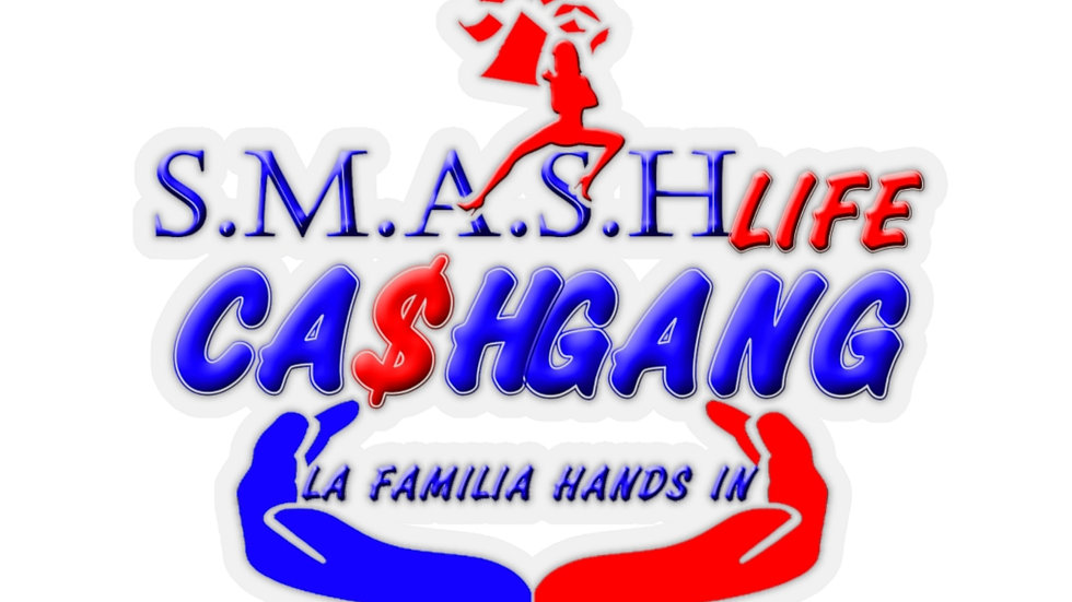Smash Life Cash Gang KissCut Stickers