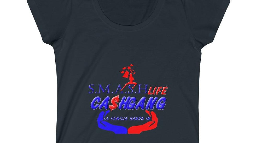 Smash Life Cash Gang Women's Scoop Neck Tee