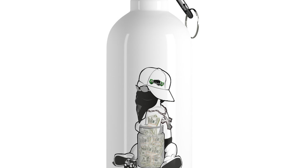 Baby Cash Stainless Steel Water Bottle (Book Custom Color)