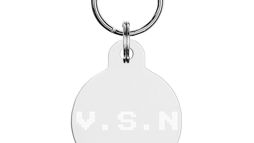 V.S.N x SLCG Engraved pet ID tag