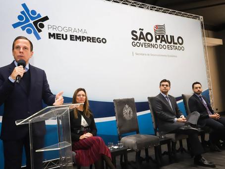 GOVERNADOR DÓRIA LANÇA PROGRAMA MEU EMPREGO