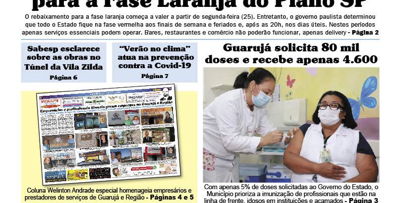 JORNAL DA CIDADE LITORAL  - IMPRESSO NAS BANCAS E PRINCIPAIS CENTROS COMERCIAIS