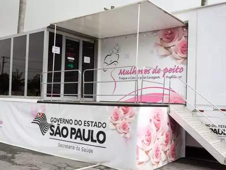 CIDADES DA BAIXADA SANTISTA RECEBEM CARRETAS DE MAMOGRAFIA